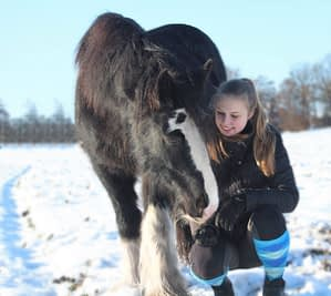 Melissa traint paard